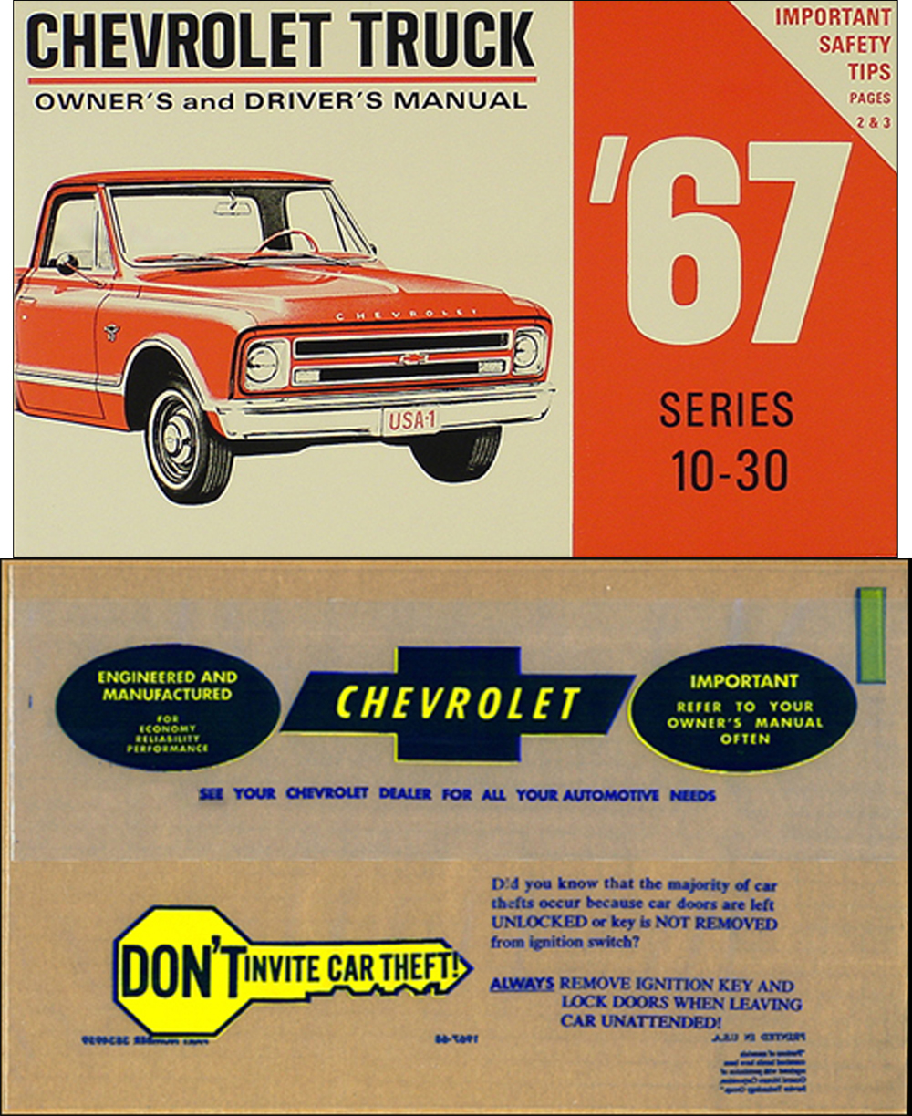1967 Chevrolet ½-, ¾-, & 1-ton Truck Owner's Manual Package Reprint  Pickup/Suburban/P-Chassis