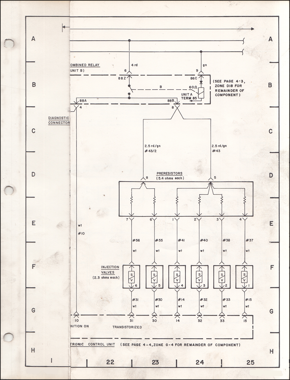 1975 BMW 530i Wiring Diagram OriginalFaxon Auto Literature