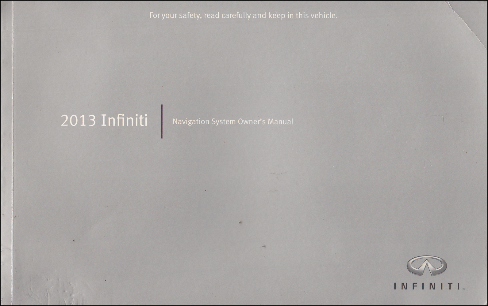 2013 Infiniti Navigation System Owner's Manual Original