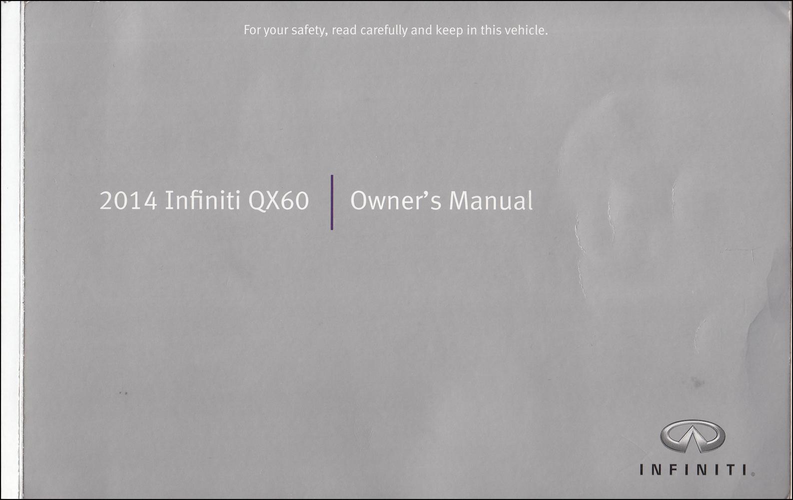 2014 Infiniti QX60 Owner's Manual Original