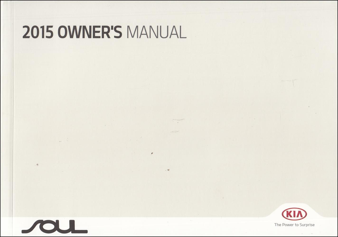 2015 Kia Soul Owner's Manual Original