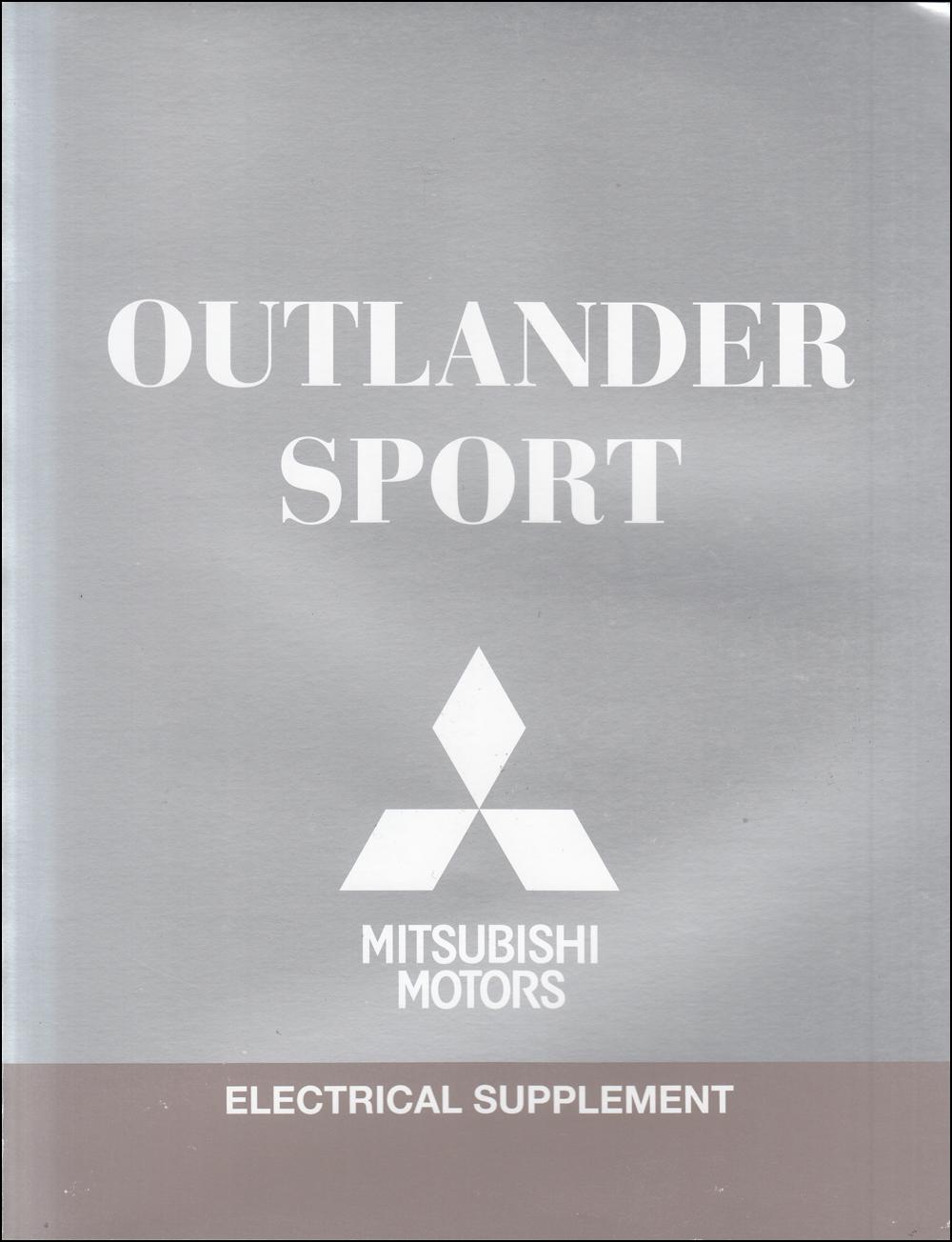 2017 Mitsubishi Outlander Sport Wiring Diagram Manual Original