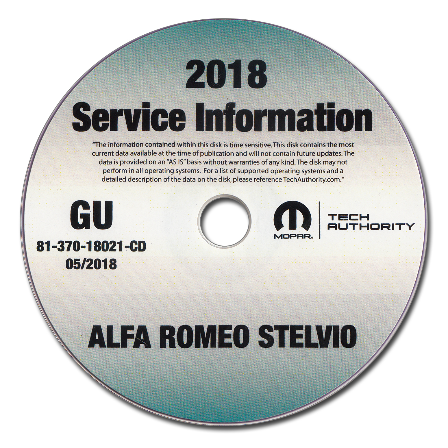 2018 Alfa Romeo Stelvio Repair Shop Manual CD-ROM
