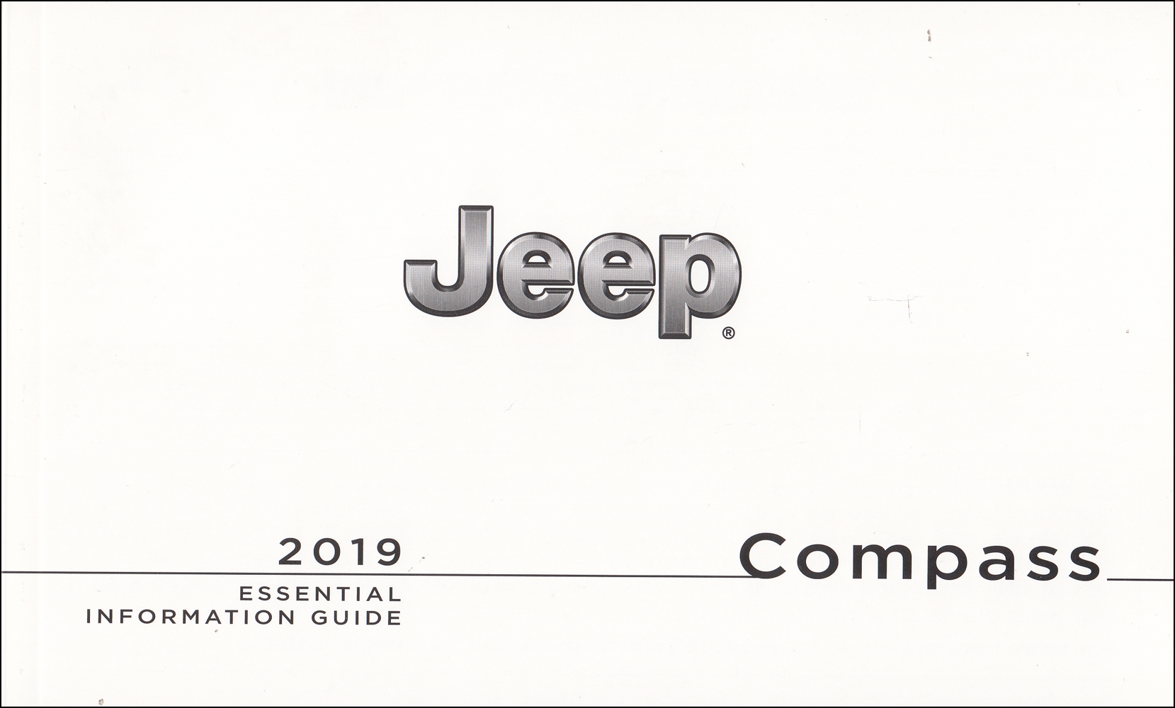 2019 Jeep Compass Essential Information Guide Owner's