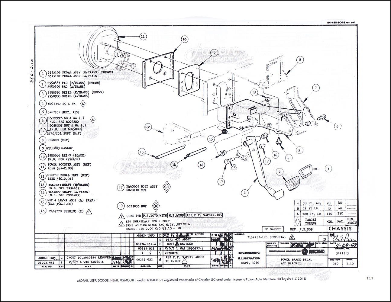 1972 Challenger & Barracuda Chassis Assembly Manual