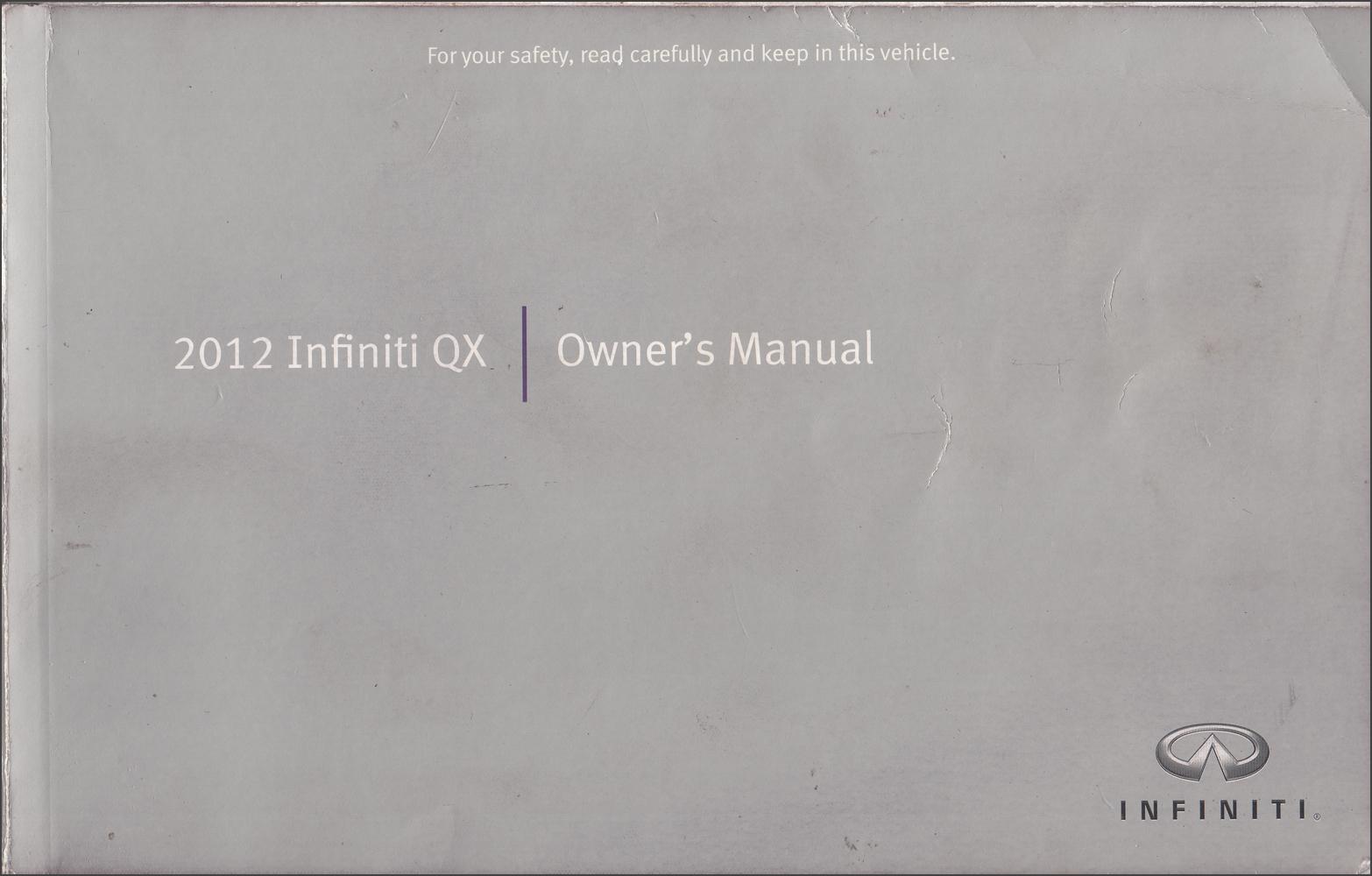2012 Infiniti QX56 Owner's Manual Original
